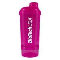 BioTech Wave Shaker 500 ml + 150 ml (pink)
