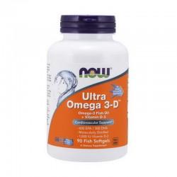 NOW Ultra Omega 3-D 90 софтгель